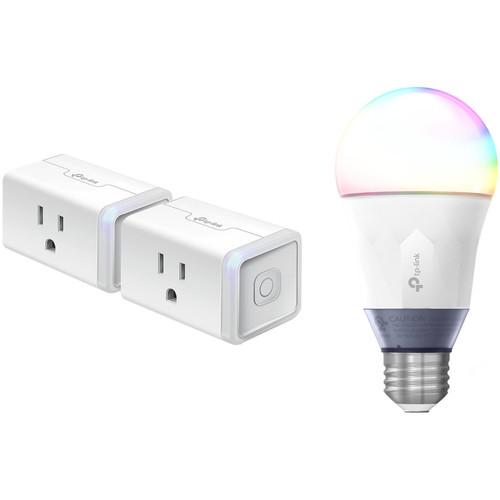 TP-Link HS105 Smart Plug Mini and LB130 Smart LED Bulb Kit