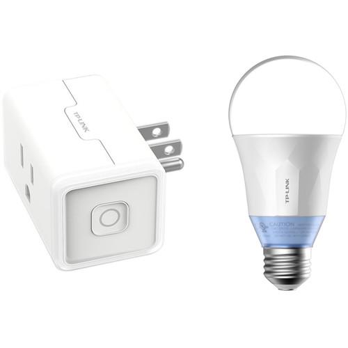 TP-Link HS105 Wi-Fi Smart Plug Mini and LB120 Wi-Fi Smart LED Bulb Kit