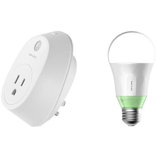 TP-Link HS110 Energy Monitoring Smart Plug and LB110 Smart LED Bulb Kit