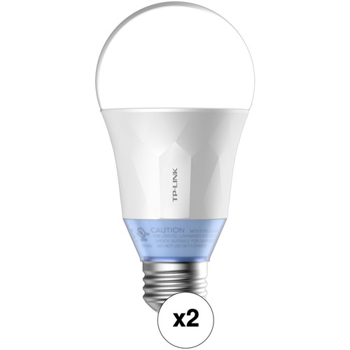 2-Pk. TP-Link LB120 Wi-Fi Smart LED Bulb w Light Kit