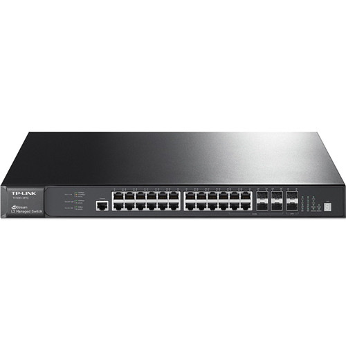 TP-Link T3700G-28TQ JetStream 28-Port Gigabit L3 Managed Switch with 4 Combo SFP Slots