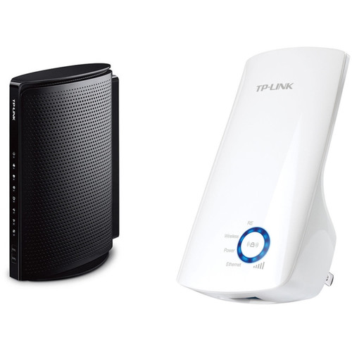 TP-Link TC-W7960 Wireless-N300 2.4 GHz Gigabit Cable Modem Router Kit with Universal Wi-Fi Range Extender