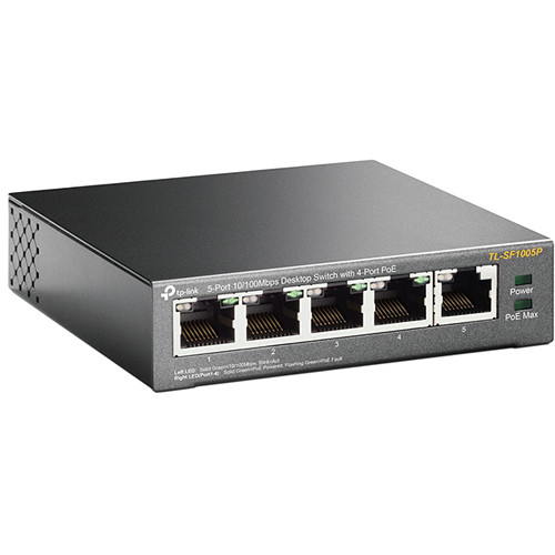 TP-Link TL-SF1005P 5-Port 10/100 Mb/s PoE-Compliant Unmanaged Switch