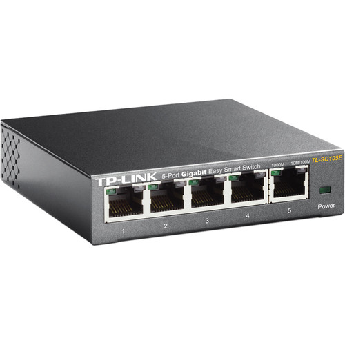 TP-Link TL-SG105ER 5-Port Gigabit Easy Smart Switch (Refurbished)