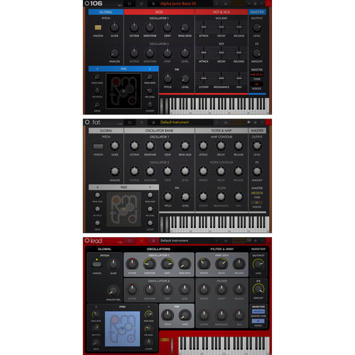 tracktion Retromod Bundle with Lead, 106 & Fat Virtual Instruments (Software, Download)