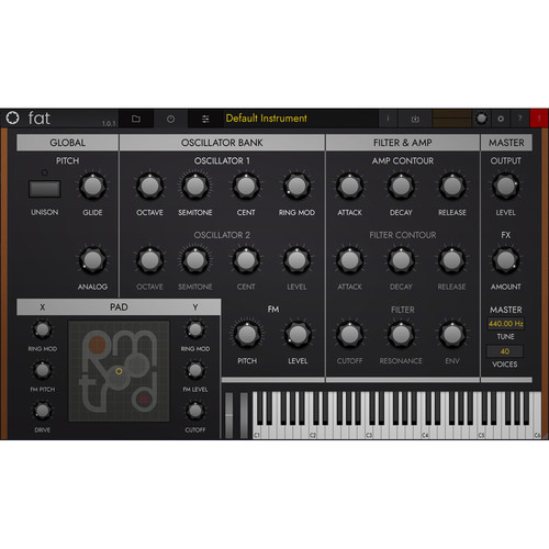 tracktion Retromod Fat - Contemporary Moog Synthesizer Emulation (Software, Download)