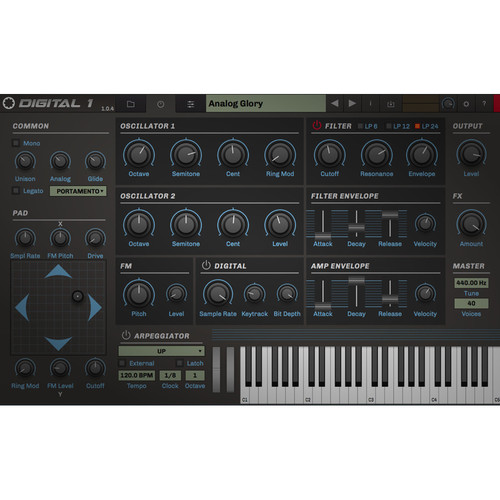 tracktion RetroMod Digital 1 - '80s Synthesizer Virtual Instrument (Download)