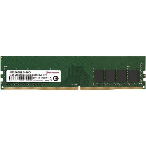 Transcend 16GB JetRam DDR4 2666 MHz CL19 UDIMM Memory Module (1Gx8 Chip)