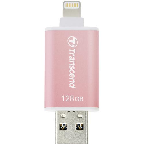 Transcend JetDrive Go 300 Flash Drive (128GB, Rose Gold)