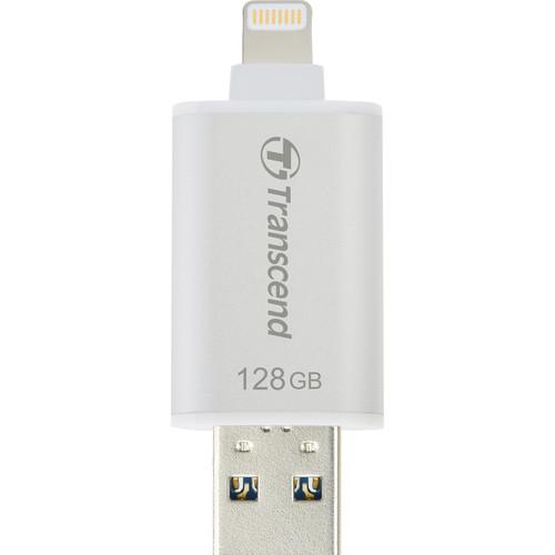 Transcend JetDrive Go 300 Flash Drive (128GB, Silver)