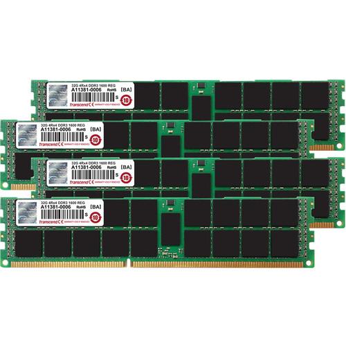 Transcend 128GB JetMemory DDR3 1600 MHz RDIMM Memory Kit (4 x 32GB, Mac)