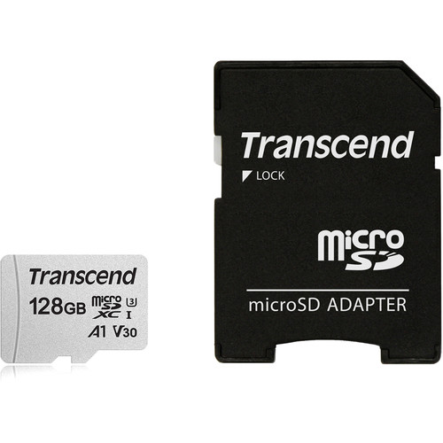 Transcend 128GB 300S UHS-I microSDXC Memory Card with SD Adapter