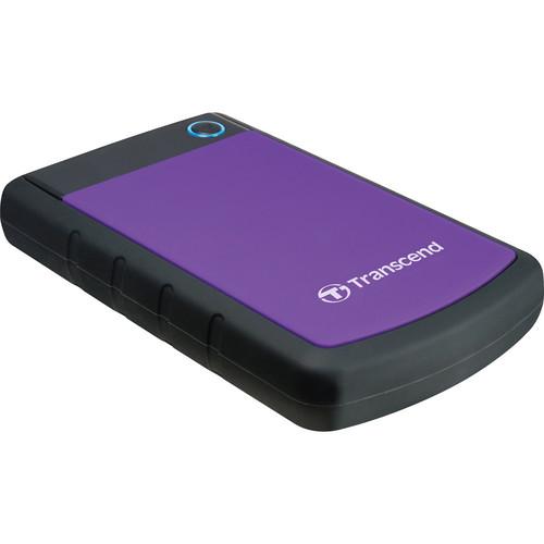 Transcend 1.5TB StoreJet 25H3 Anti-Shock External Hard Drive (Purple)