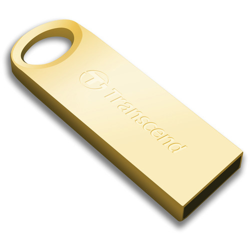 Transcend 16GB JetFlash 520 USB 2.0 Flash Drive (Gold)