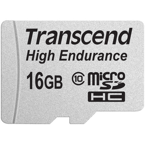 Transcend 16GB High Endurance microSDHC Memory Card