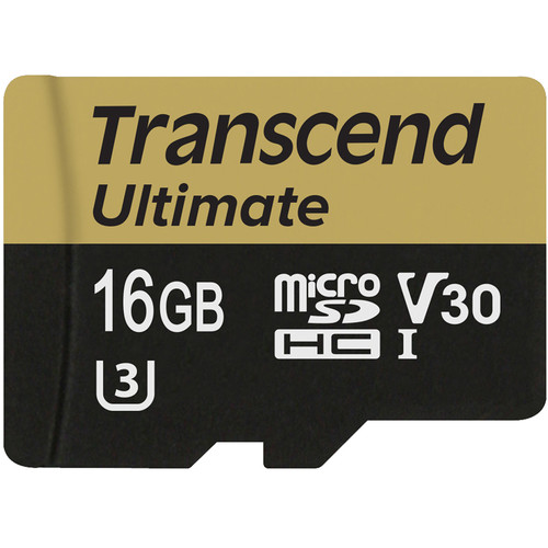Transcend 16GB Ultimate UHS-I microSDHC Memory Card (Class 10)