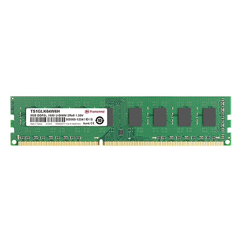 Transcend 8GB DDR3L 1600 MHz CL11 UDIMM Memory Module