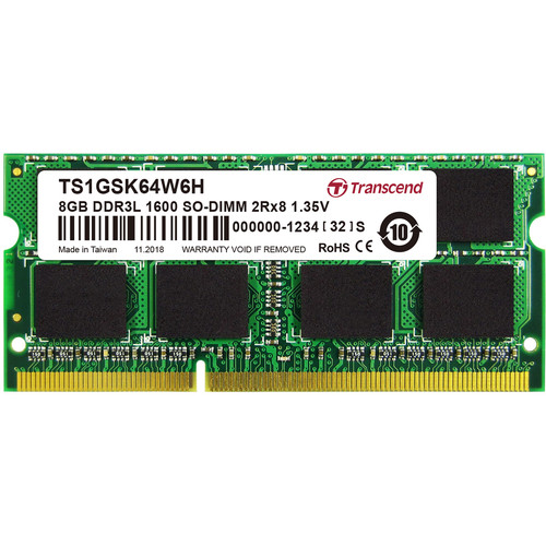 Transcend 8GB DDR3L 1600 MHz CL11 SO-DIMM Memory Module