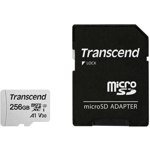 Transcend 256GB 300S UHS-I microSDXC Memory Card with SD Adapter