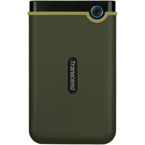 Transcend 2TB USB 3.1 Storejet 25M3 Portable Hard Drive (Military Green)
