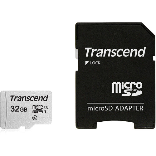 Transcend 32GB 300S UHS-I microSDHC Memory Card with SD Adapter