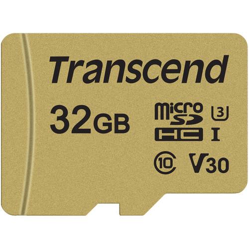 Transcend 32GB 500S UHS-I microSDHC Memory Card