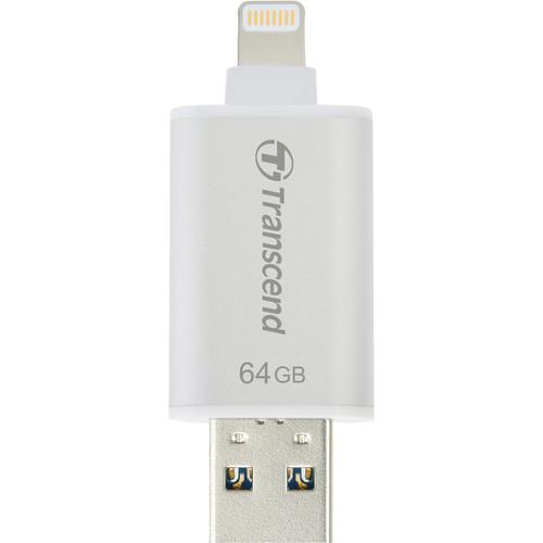 Transcend JetDrive Go 300 Flash Drive (64GB, Silver)
