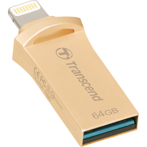 Transcend JetDrive Go 500 Mobile Storage for iOS Devices (64GB, Gold)