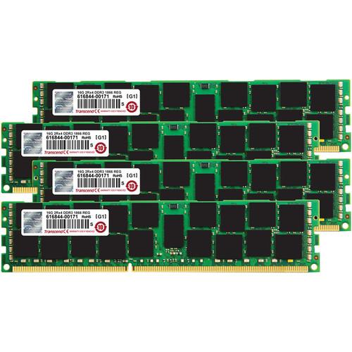 Transcend JetMemory 64GB (4 x 16GB) DDR3 DIMM 1866 MHz DRAM Memory Kit for Mac