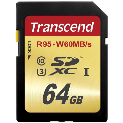 Transcend 64GB UHS-1 SDXC Memory Card (Speed Class 3)