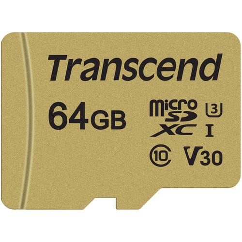Transcend 64GB 500S UHS-I microSDXC Memory Card