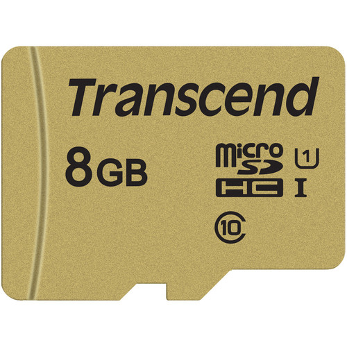 Transcend 8GB 500S UHS-I microSDHC Memory Card