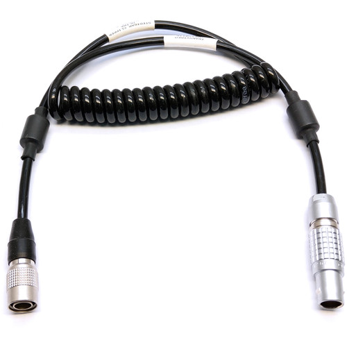 """Transvideo 8-Pin LEMO to 6-Pin Hirose Cable for CineMonitorHD (Coiled, 19.6 to 27.5"""")"""
