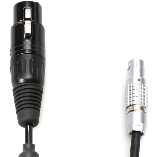 "Transvideo 4-Pin XLR-F to 2-Pin LEMO Mini 12V Power Cable for Alexa Cameras (Coiled, 19.6 to 27.5"")"