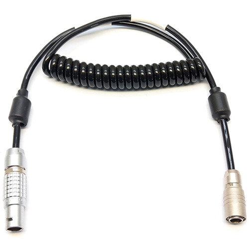 """Transvideo 8-Pin LEMO to 4-Pin Hirose Power/Tally Cable (Coiled, 19.6 to 27.5"""")"""
