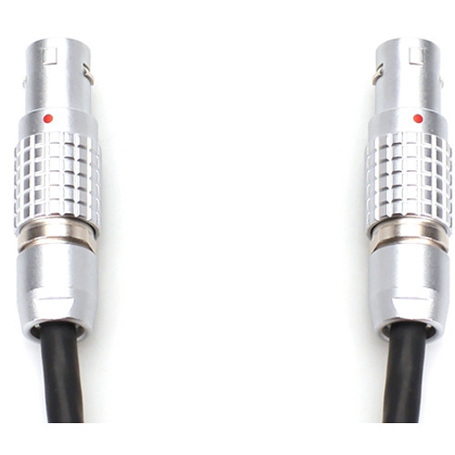 Transvideo Mini 2-Pin LEMO to 3-Pin Lemo Male Coiled Cable for Steadicam Clipper II