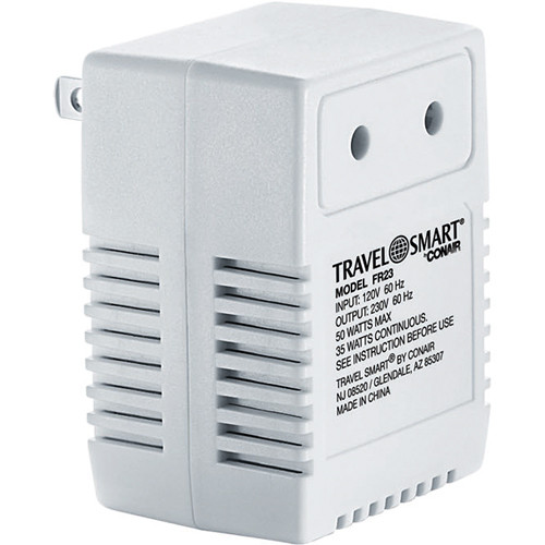 Travel Smart by Conair Reverse 50-Watt 110 to 220 Transformer