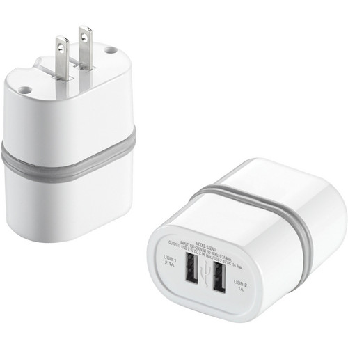 Travel Smart by Conair LectronicSmart Dual USB Wall Adapter
