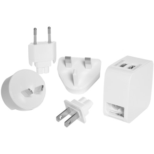 Travel Smart by Conair Dual USB Charger & Adapter Plug Set