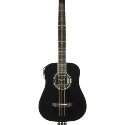 Traveler Guitar AG-200 EQ Compact Acoustic / Electric Guitar with Gig Bag (Black)