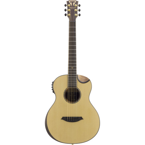 Traveler Guitar AG-105EQ Compact Acoustic/Electric Guitar with Gig Bag (Natural)