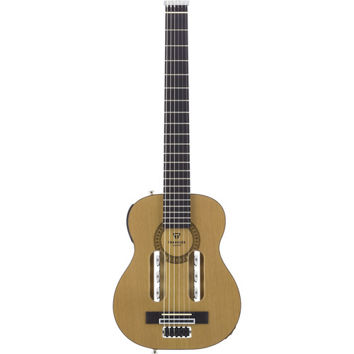 Traveler Guitar ESCN GLS Escape Classical - Compact Acoustic / Electric Guitar with Gig Bag (Natural)