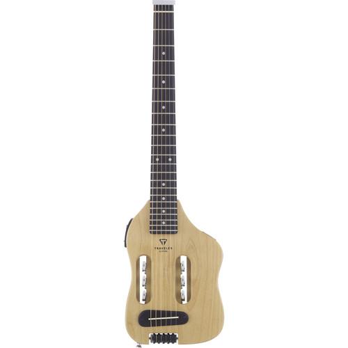 Traveler Guitar Original Escape - Compact Acoustic / Electric Guitar with Gig Bag (Natural)