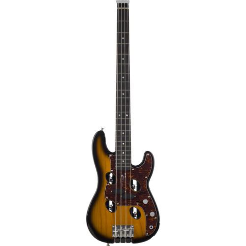 Traveler Guitar TB-4P Bass - Compact Electric Bass Guitar with Gig Bag (Sunburst)