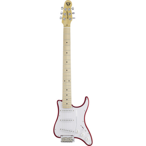 Traveler Guitar Travelcaster Deluxe Electric Travel Guitar with Gig Bag (Candy Apple Red)