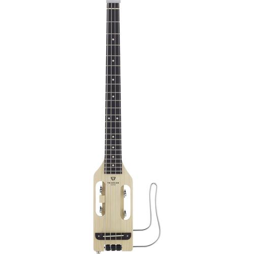Traveler Guitar Ultra-Light Bass - Compact Acoustic/Electric Bass Guitar with Gig Bag (Natural)