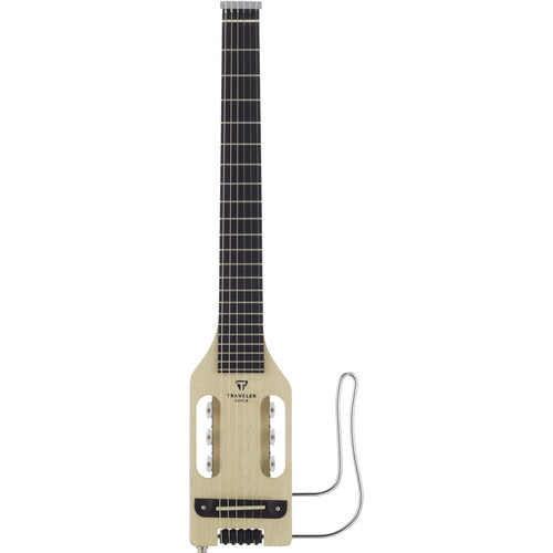 Traveler Guitar Ultra-Light Nylon - Compact Classical Acoustic/Electric Guitar with Gig Bag (Natural)