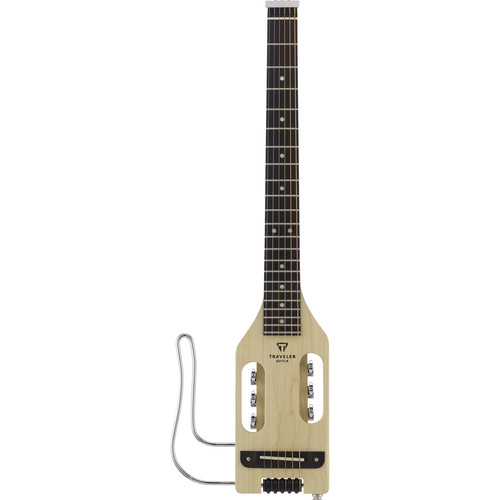 Traveler Guitar Ultra-Light - Compact Acoustic/Electric Guitar with Gig Bag (Left-Handed, Natural)