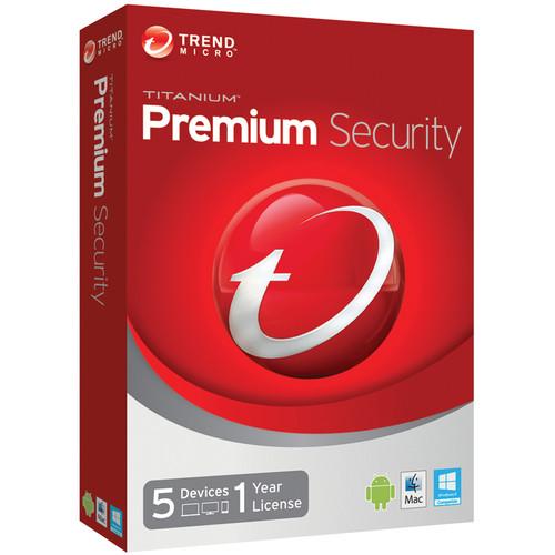 Trend Micro Titanium Premium Security 2014 (5-Device, 1-Year License, Download)