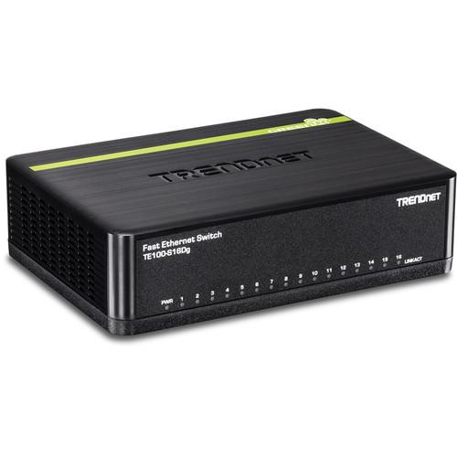 TRENDnet TE100-S16DG 16-Port 10/100 Mbps GREENnet Switch